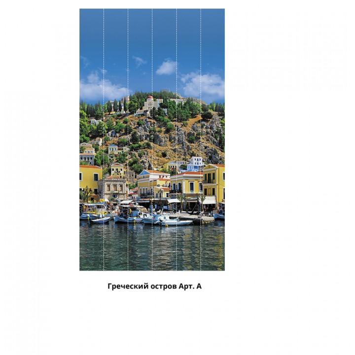 Панно из ПВХ-панелей с цифровой печатью Греческий остров