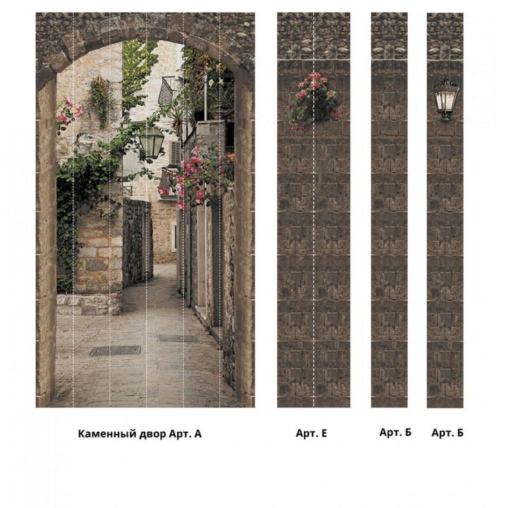 Панно из ПВХ-панелей с цифровой печатью Каменный двор