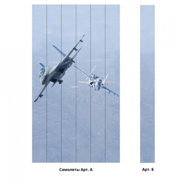Панно из ПВХ-панелей с цифровой печатью Самолеты