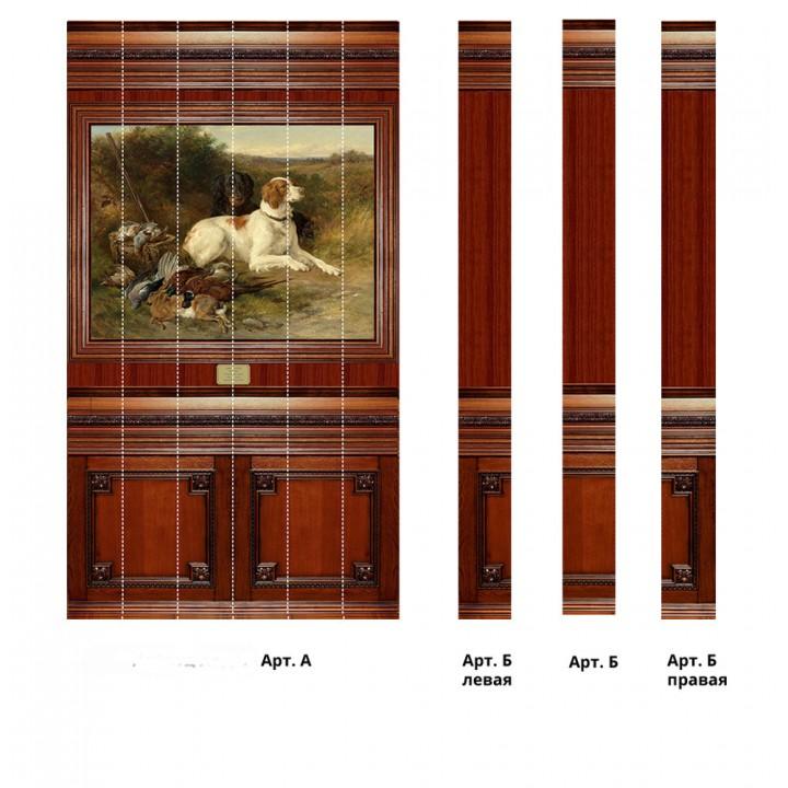 Панно из ПВХ-панелей с цифровой печатью Собаки