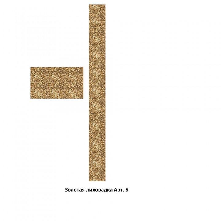 Панно из ПВХ-панелей с цифровой печатью Золотая лихорадка