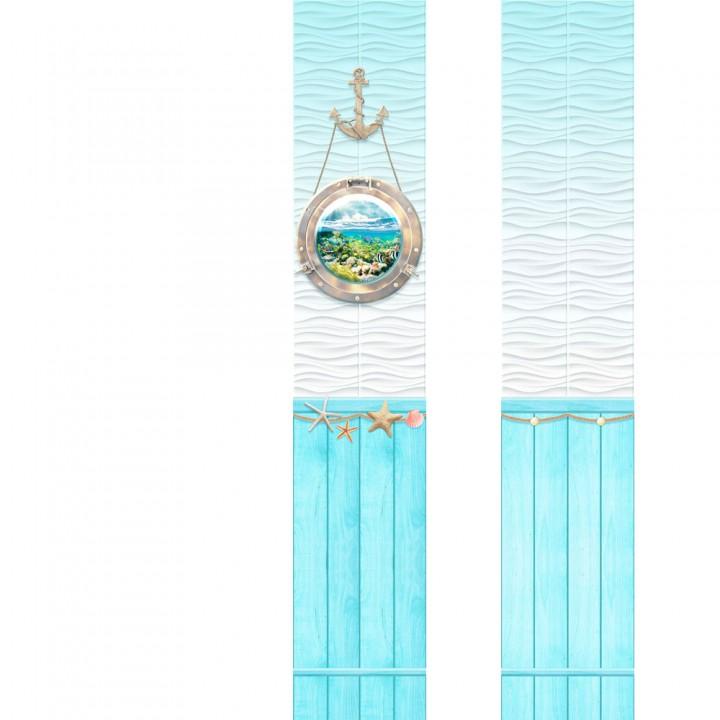 ПВХ-панели с имитацией плитки Аква 3