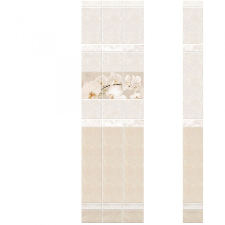 ПВХ-панели с имитацией плитки Фелиция Орхидея