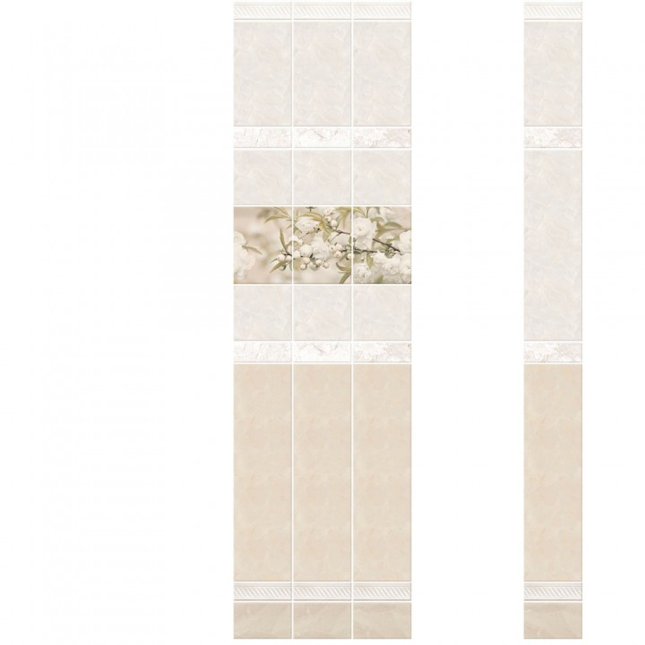 ПВХ-панели с имитацией плитки Фелиция Яблоня