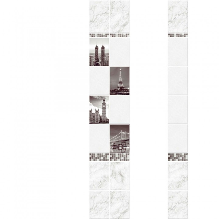 ПВХ-панели с имитацией плитки Город 1