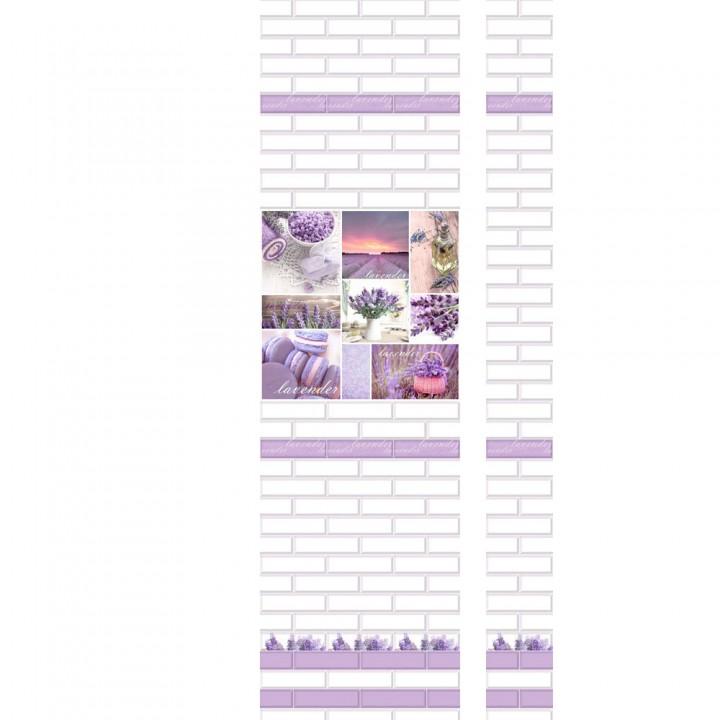 ПВХ-панели с имитацией плитки Лаванда
