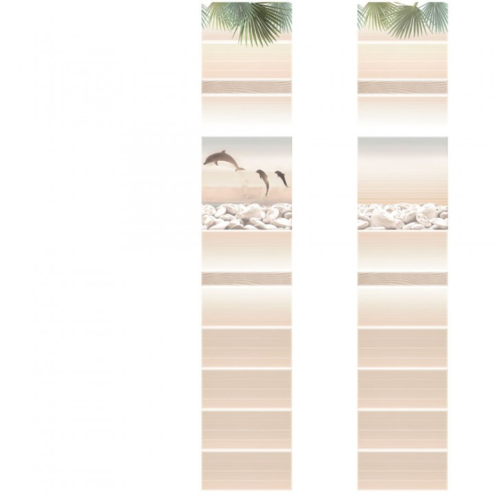 ПВХ-панели с имитацией плитки Ливадия Дельфины