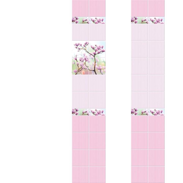 ПВХ-панели с имитацией плитки Сакура