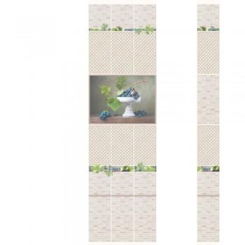 ПВХ-панели с имитацией плитки Виноград 2