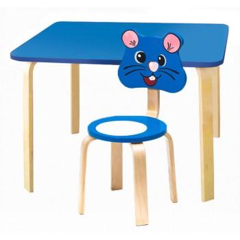 Комплект детской мебели Polli Tolli Мордочки с голубым столиком