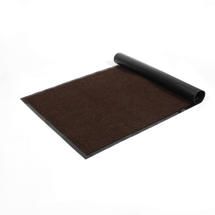 Коврик влаговпитывающий ребристый SunStep 120x250 см коричневый 35-092