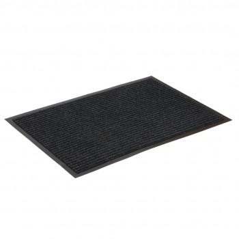 Коврик влаговпитывающий ребристый SunStep 40x60 см черный 35-033