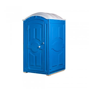 Туалетная кабина под торфяной биотуалет Тандем синяя