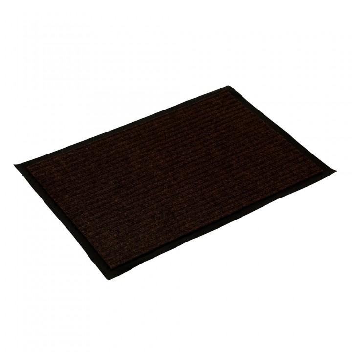 Коврик влаговпитывающий ребристый VORTEX 40х60 см коричневый 22078