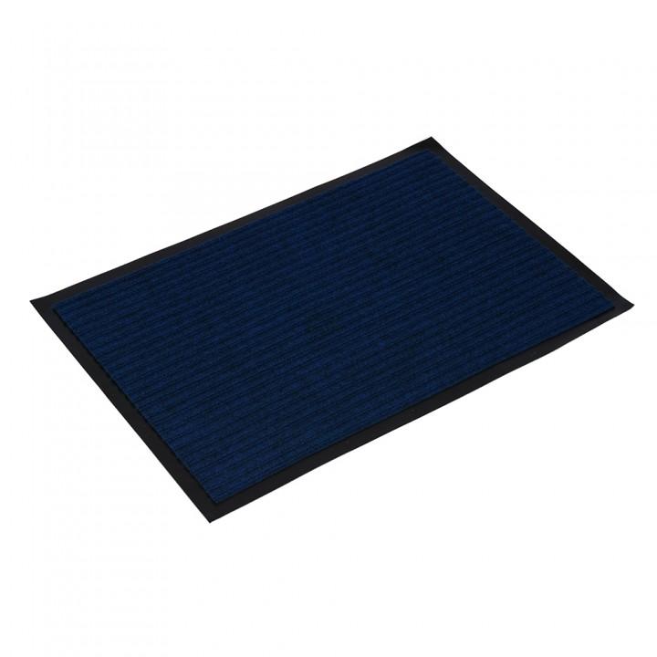 Коврик влаговпитывающий ребристый VORTEX 40х60 см синий 22076