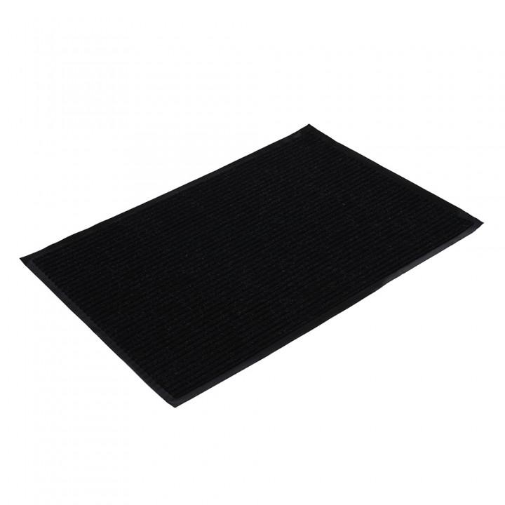Коврик влаговпитывающий ребристый VORTEX 60*90 см черный 22092